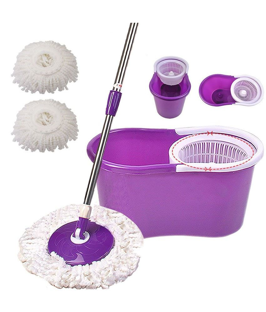 Cleaning Store!! Upto 70% Off On Cleaning Products By Snapdeal | Welcome Group Easy Mop Multicolor Spin Mop Deluxe Cleaning System (Color as per availability) @ Rs.805