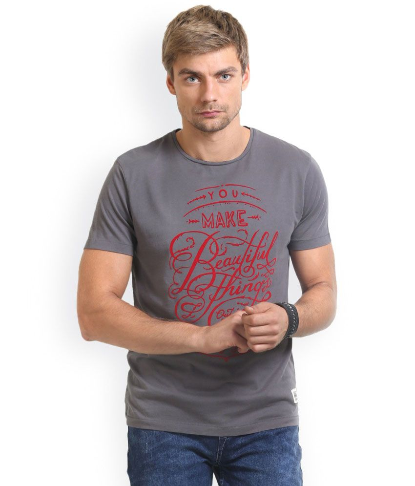 HW Grey Cotton T-Shirt