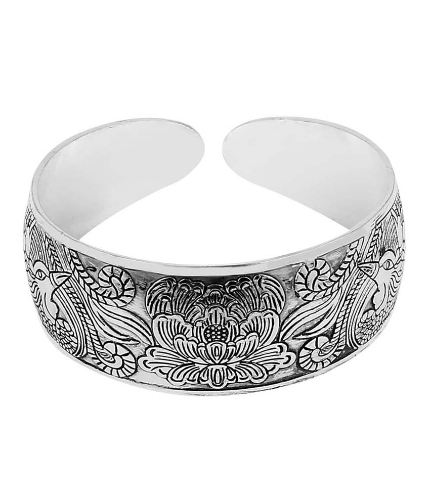 JEWELIZER Antique Contemporary Cuff Bangle for Women