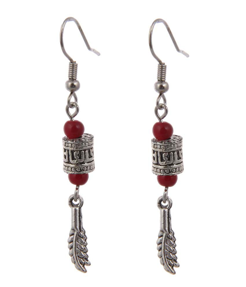 JEWELIZER Bohemian Silver Plated Contemporary Dangle Earrings for Women