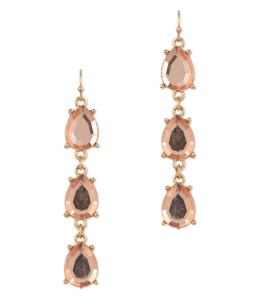 JEWELIZER Designer Gold Plated Contemporary Dangle Earrings for Women