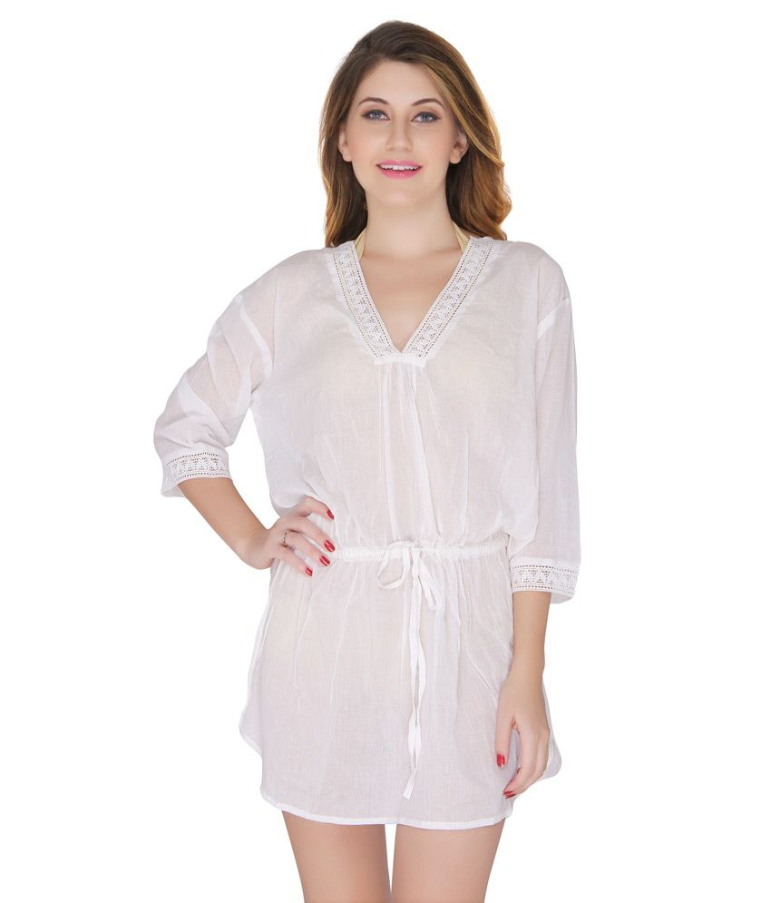 f94b5f5ae24c12 Buy The Beach Company White Beach Tops Online at Best Prices in India -  Snapdeal