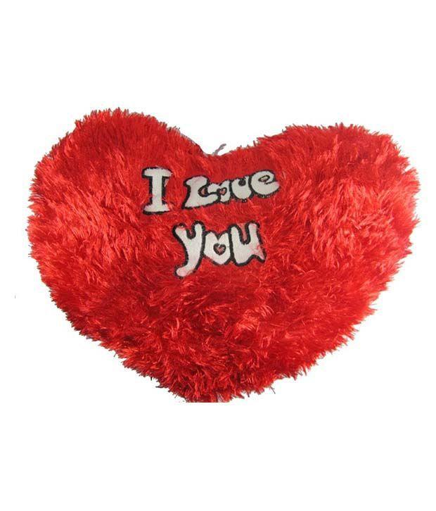 Tickles I Love You Valentine stuffed Heart love soft toy cushion pillow for boyfriend, girlfriend 45 Cm Cushions   Red