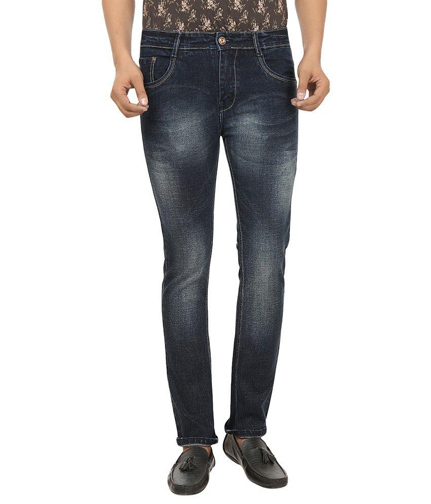 99 Degrees Blue Slim Fit Jeans