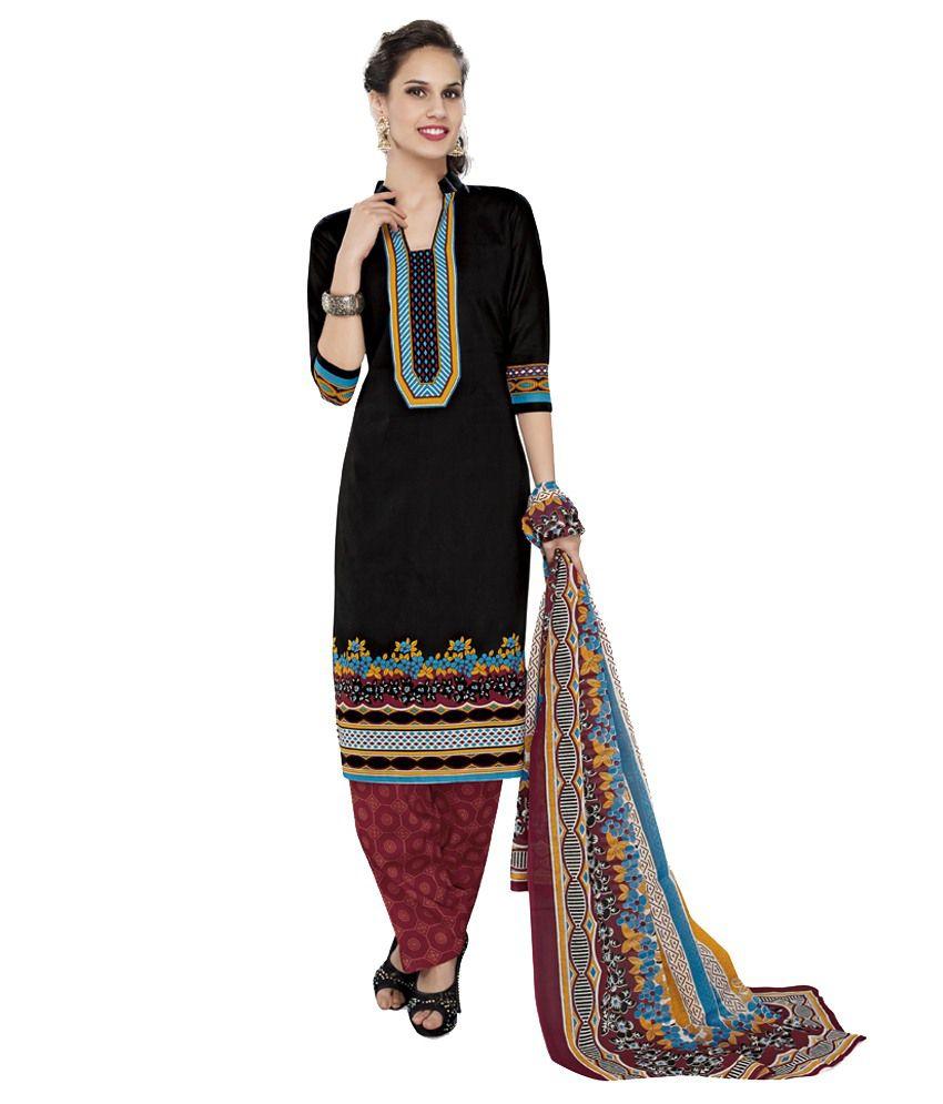 Advance Multicoloured Cotton Unstitched Dress Material