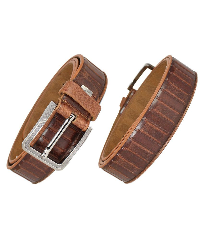 Reven G652 Casual Leather Belt - Tan (Kanpur Made)