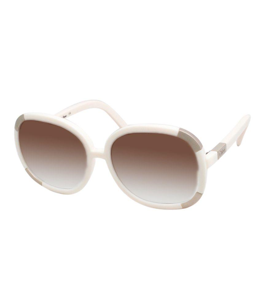 Chloe Brown Medium Men Oval Sunglasses
