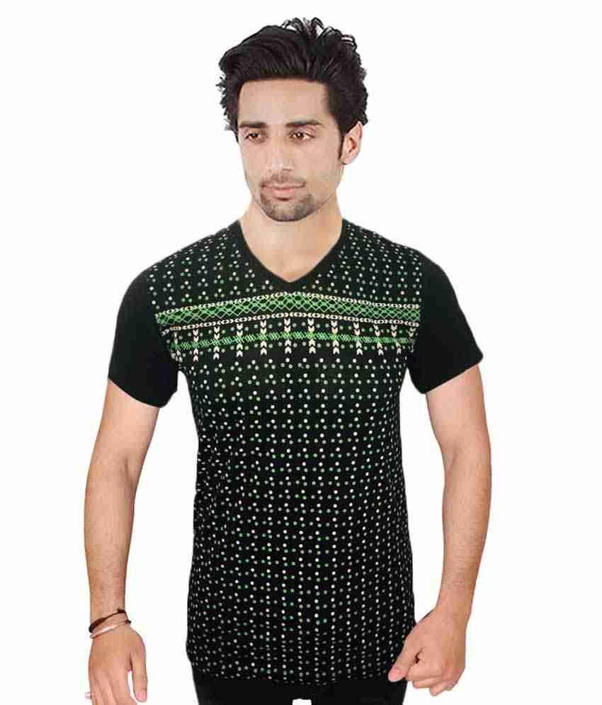 H B Traders Green Cotton T-Shirt