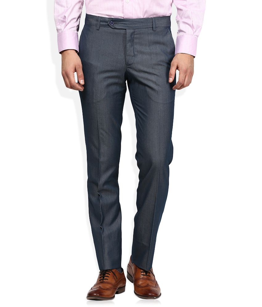 John Players Grey Slim Flat Trouser