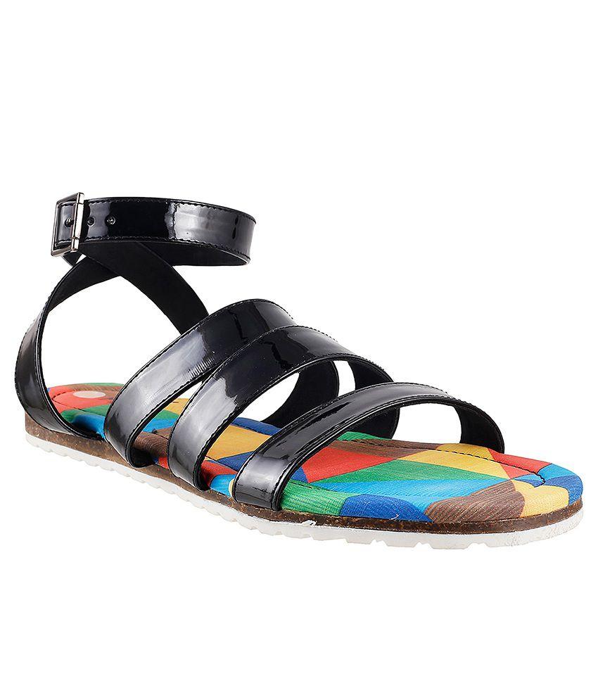 Metro Black Sandals
