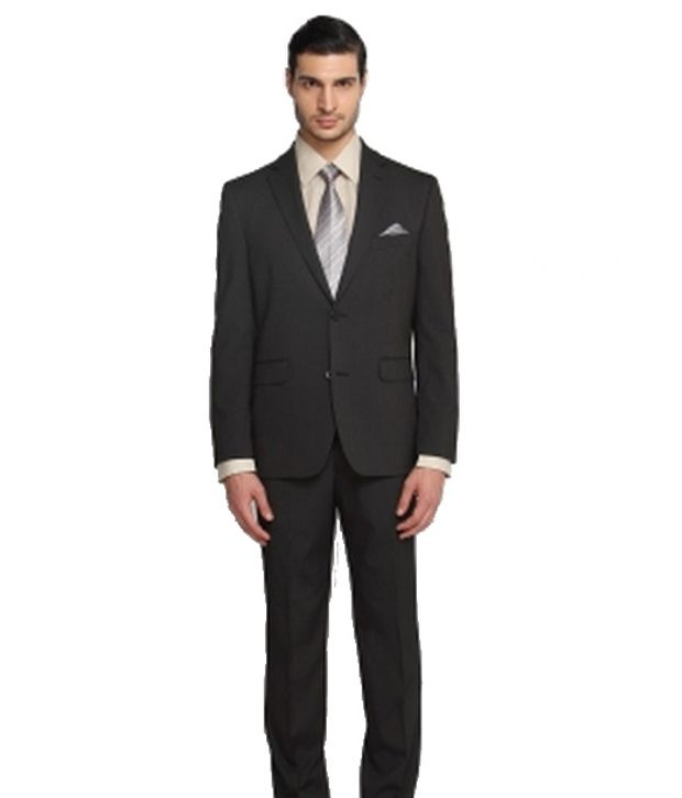 SUITLTD  Black Stripe Tailored Fit Suit