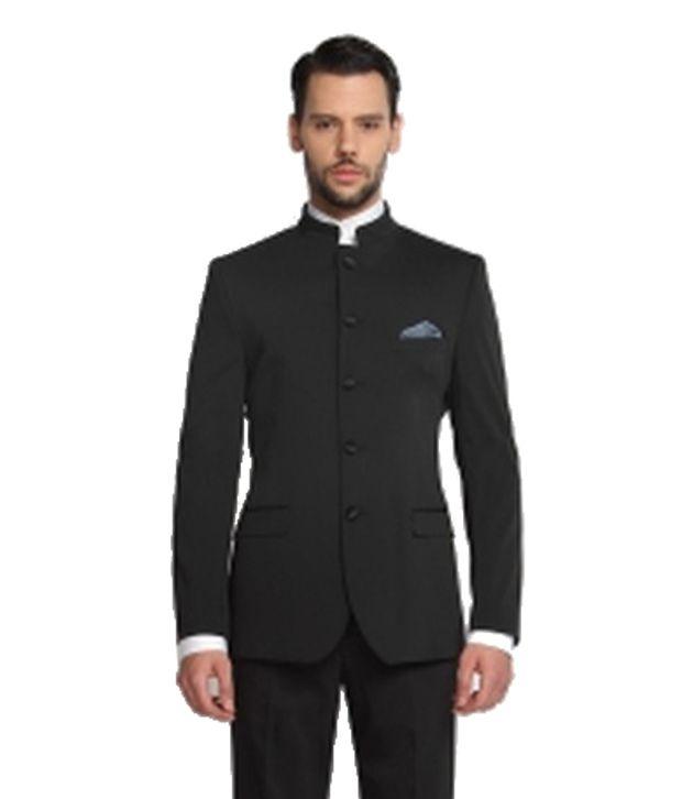 SUITLTD  Black Solid Tailored Fit Suit
