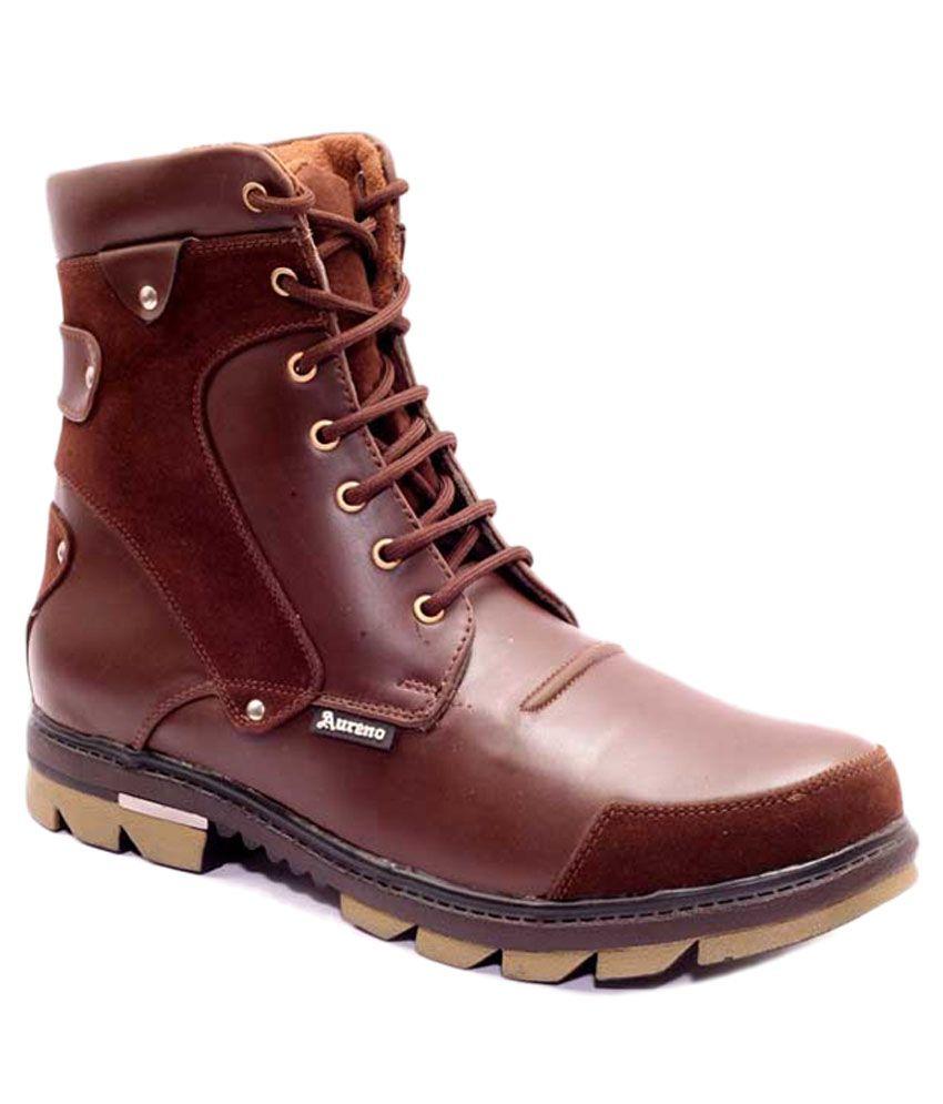 Aureno Tan Lace Boots