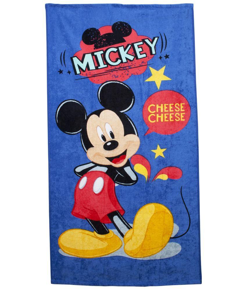 Disney Blue & Yellow Mickey Cotton Bath Towel