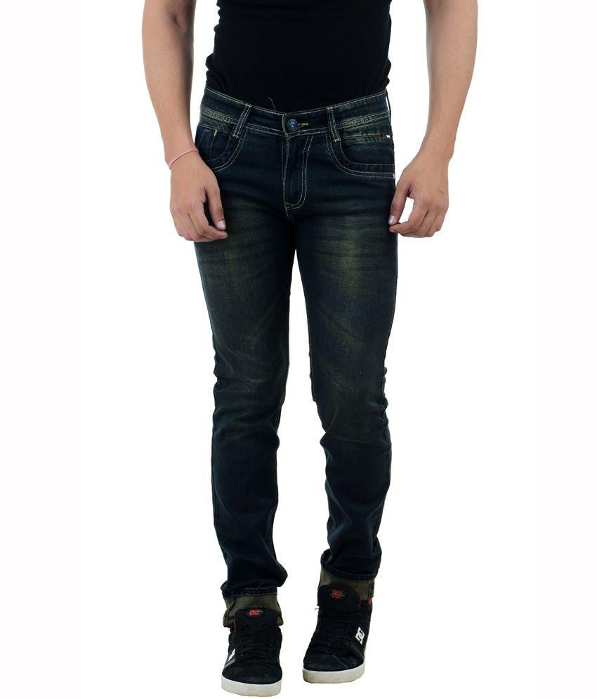 Fbm Blue Slim Fit Jeans
