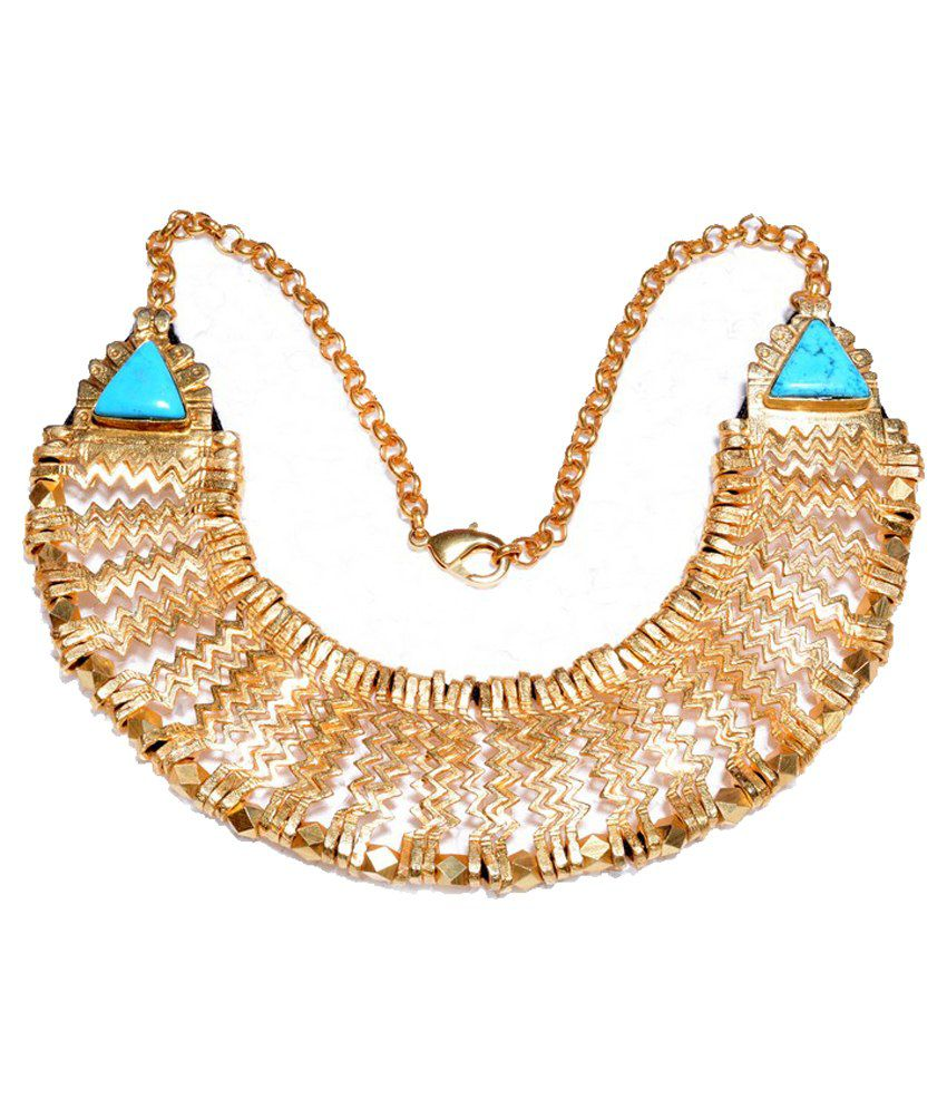 Gharaz Gold Plated Necklace