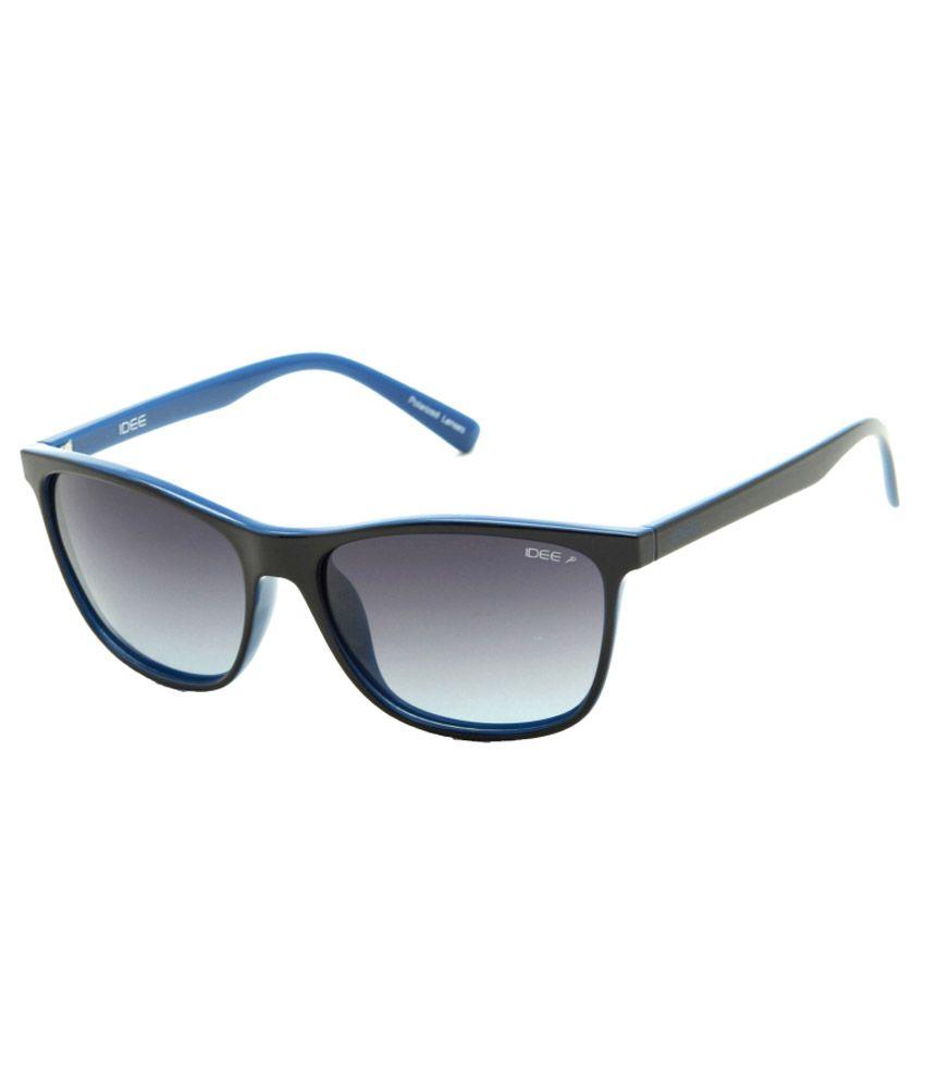 IDEE Black Medium Unisex Wayfarer Sunglasses