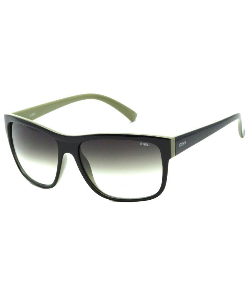 IDEE Green Medium Unisex Wayfarer Sunglasses