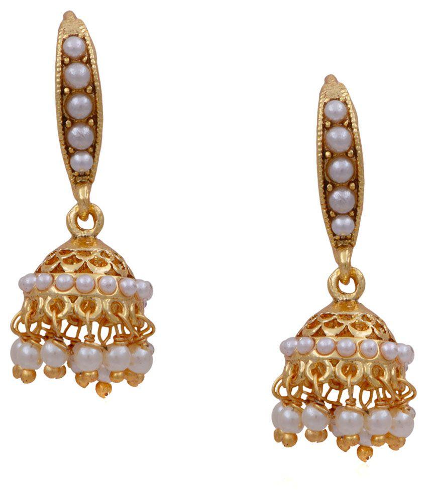 Pitti Jewels&Pearls White Copper Jhumkis