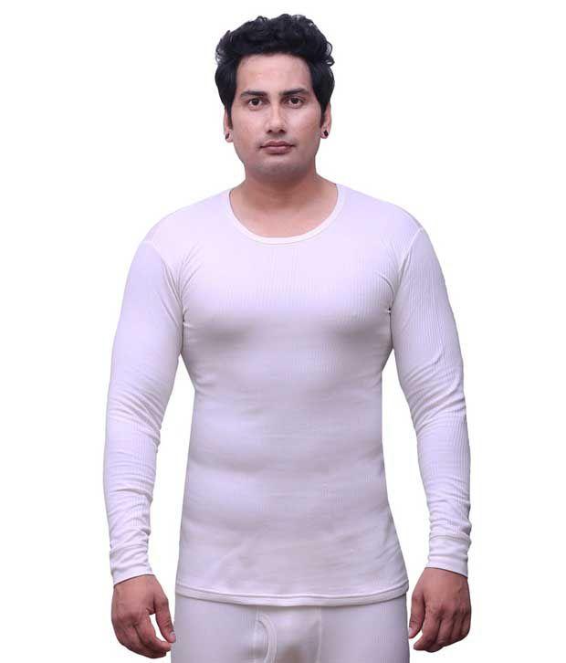 Selfcare White Cotton Blend Thermal (upper)