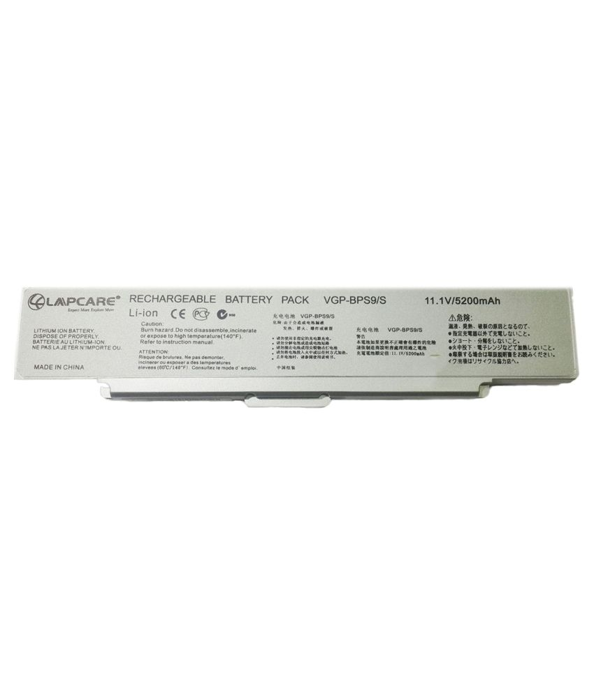 Lapcare Laptop Battery for Sony VAIO VGN-CR21E/W With Free Actone Mobile Charging Data Cable