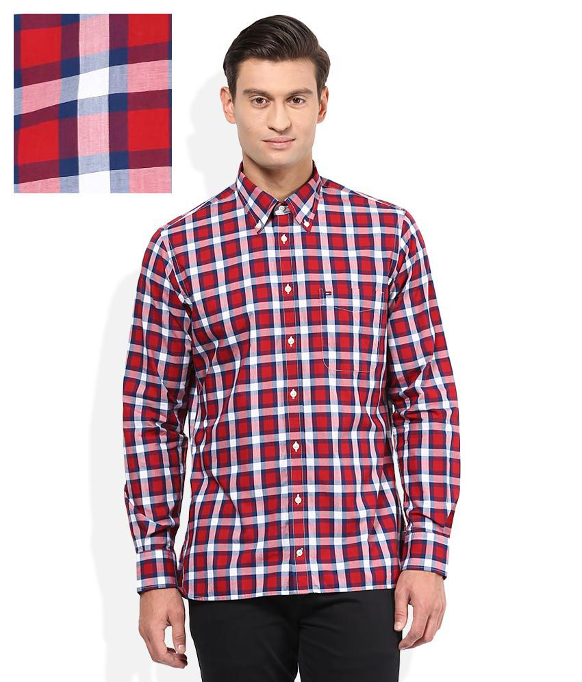 4c6ff814f Tommy Hilfiger Red Checkered Shirt - Buy Tommy Hilfiger Red Checkered Shirt  Online at Best Prices in India on Snapdeal