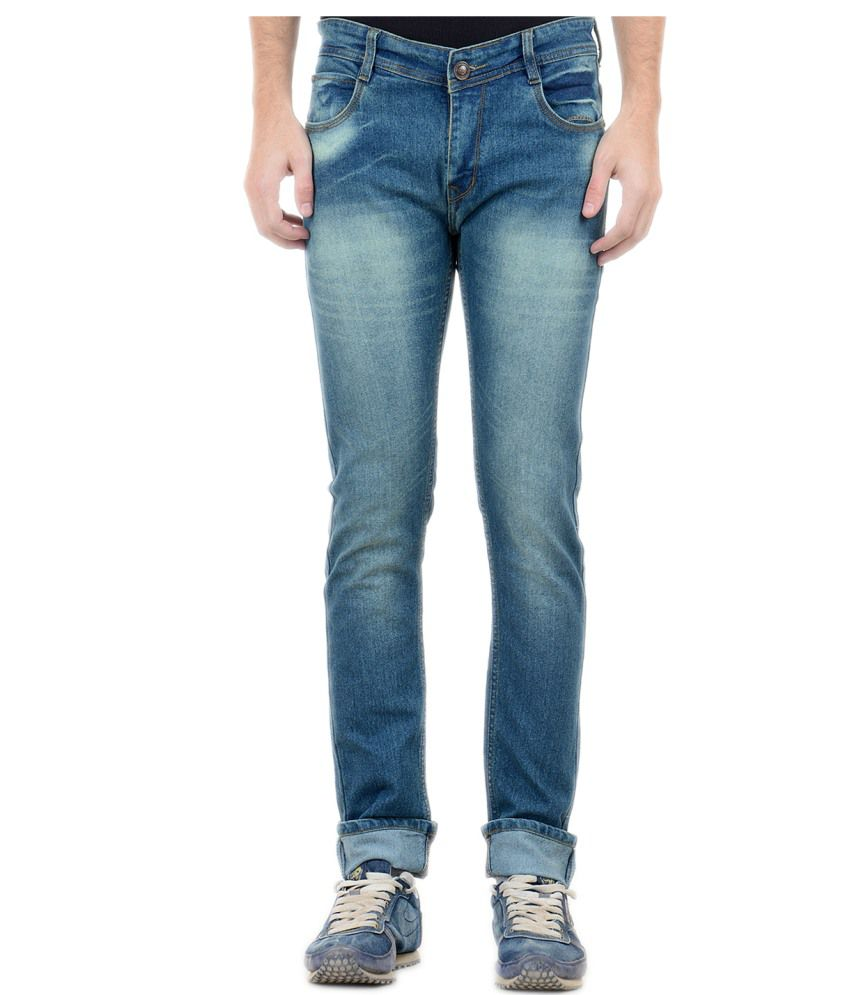Forest Blue Slim Fit Jeans