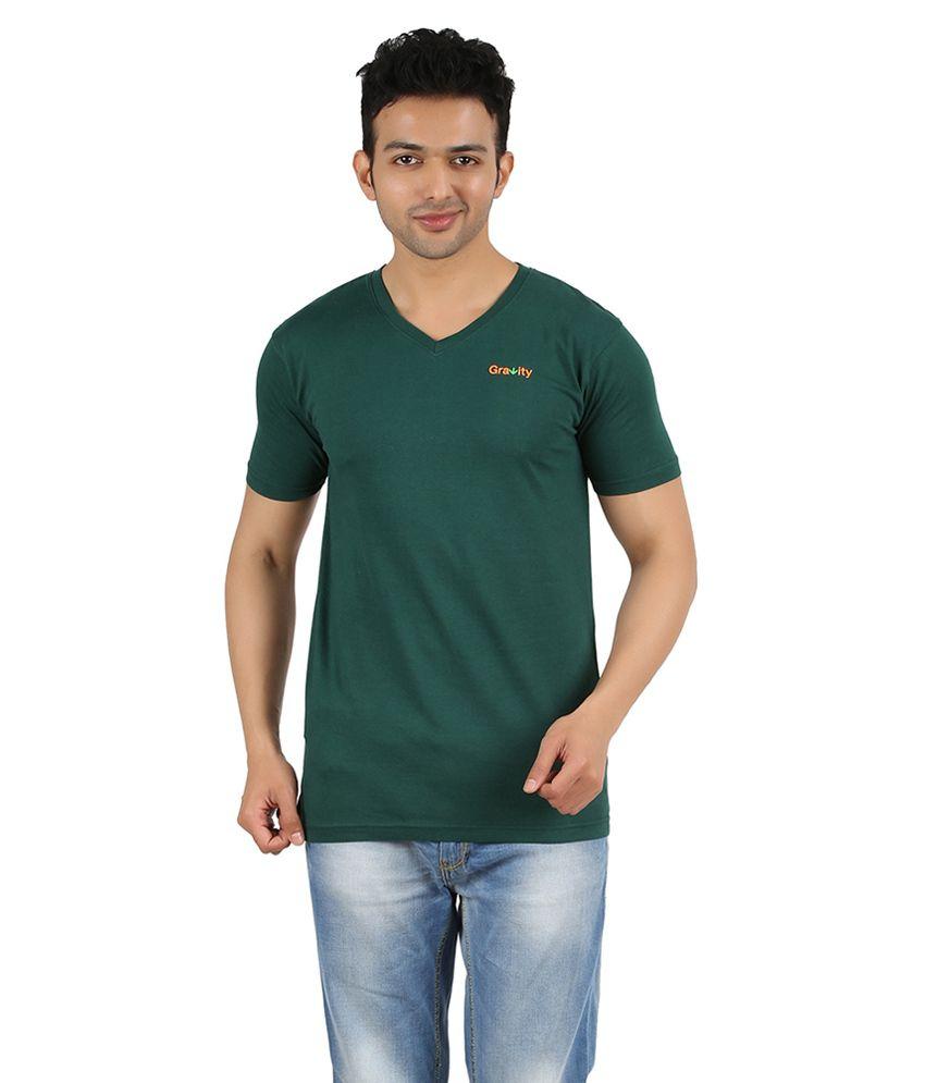 Gravity Plus Green Cotton T-Shirt