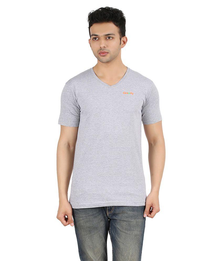 Gravity Plus Grey Cotton T-Shirt