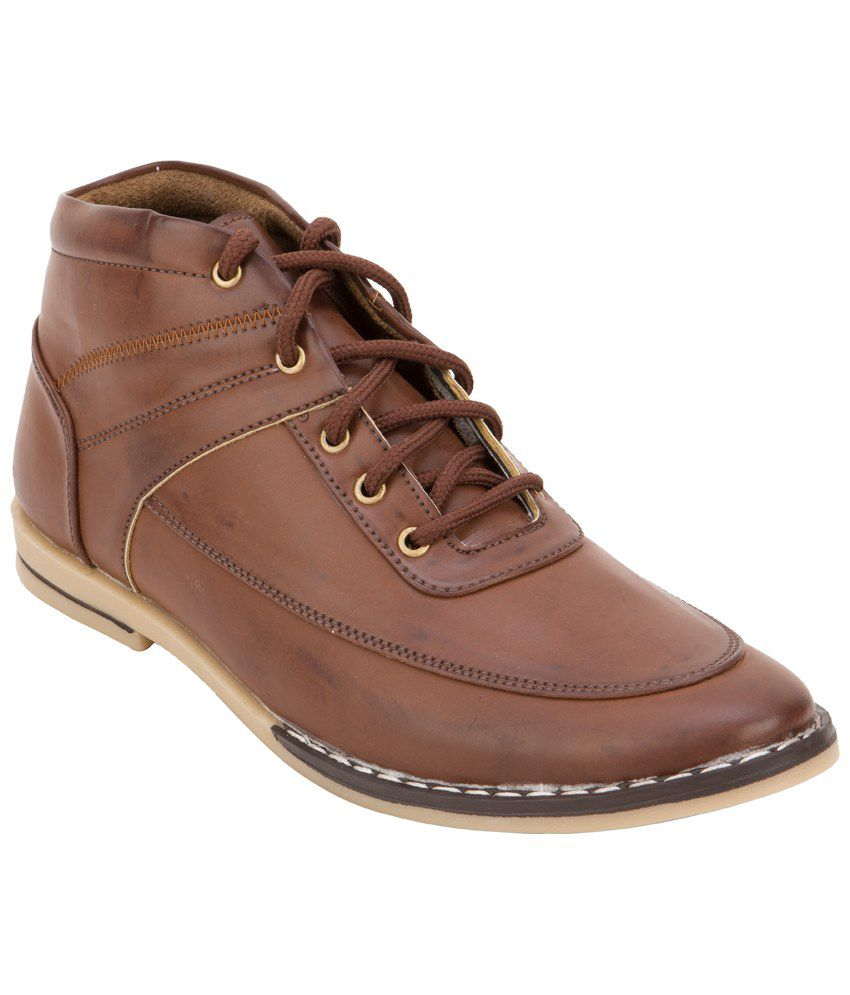 Mori Brown Ankle Length Boots