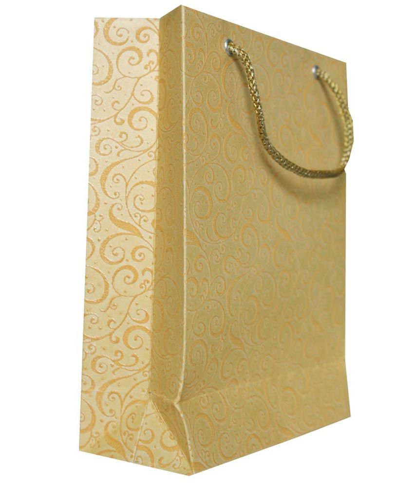 Shakun Printers Golden Shopping Bag