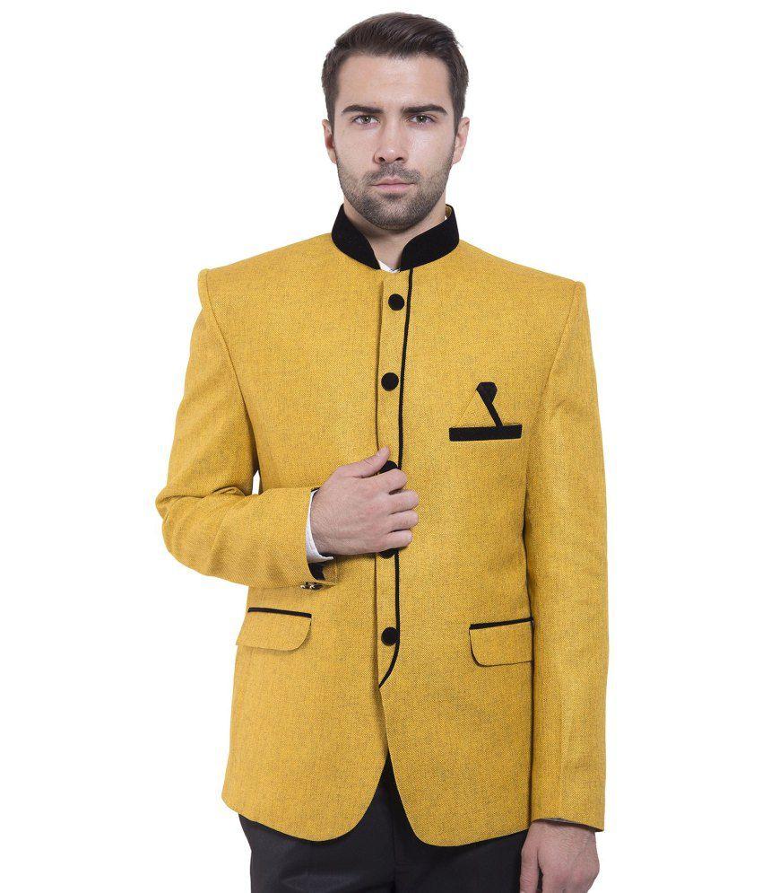 Wintage Yellow festive Blazer