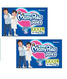 Mamy Poko Pants XXXL (18-35 Kg)-7 Pcs-Set of 4