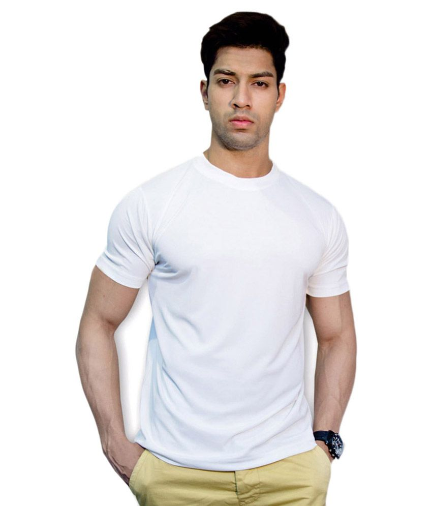 Andshand White Cotton T-Shirt