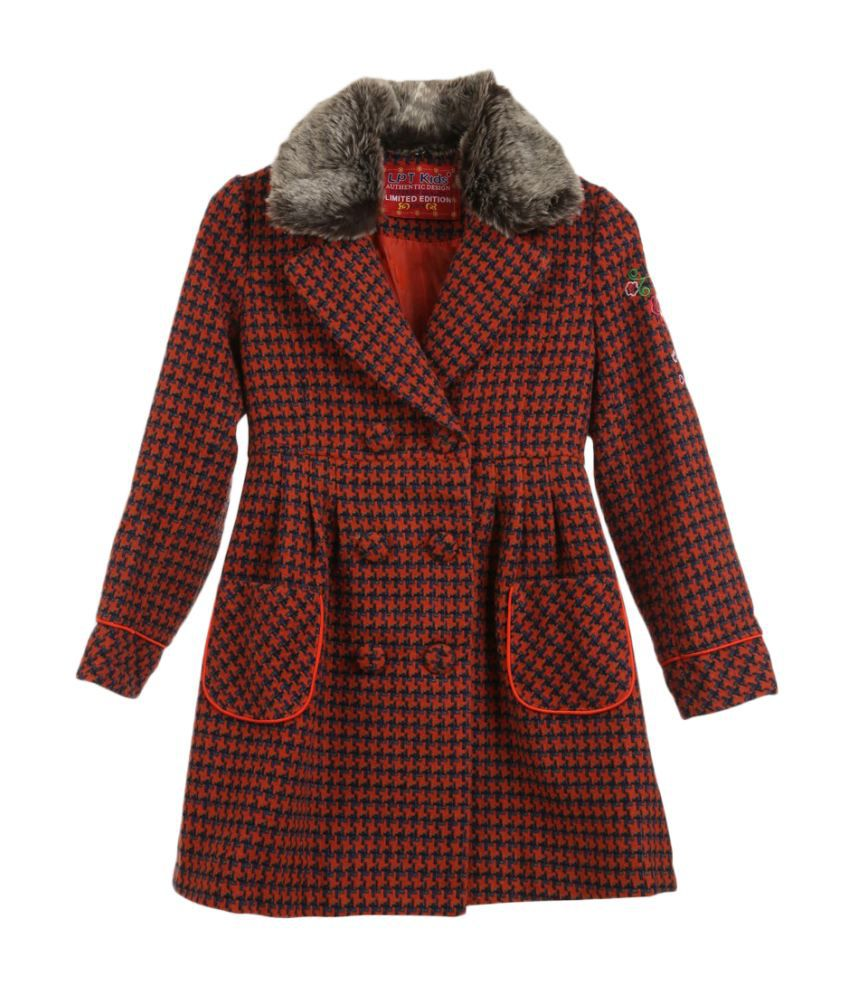 Lilliput Orange Viscose Coat
