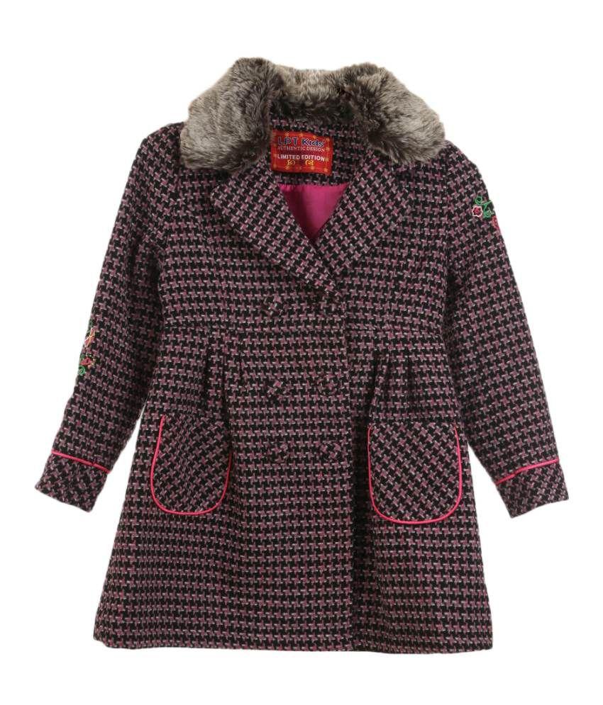Lilliput Purple Viscose Coat
