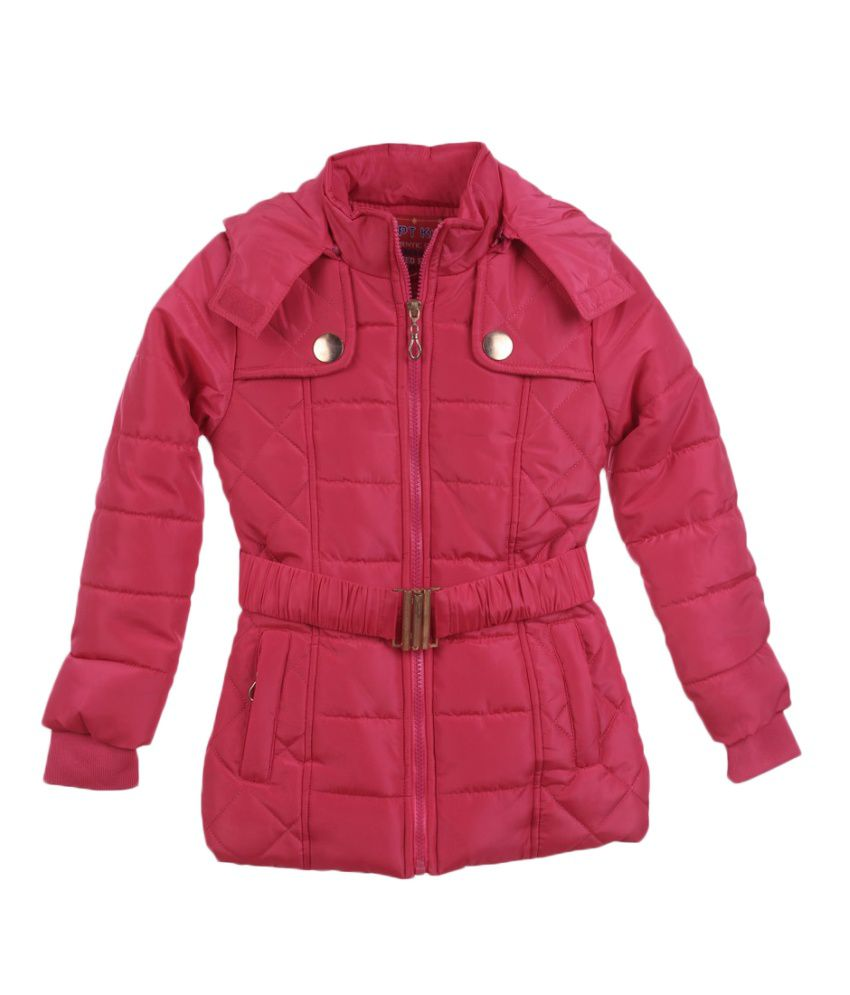 Lilliput Red Viscose Quilted Jacket