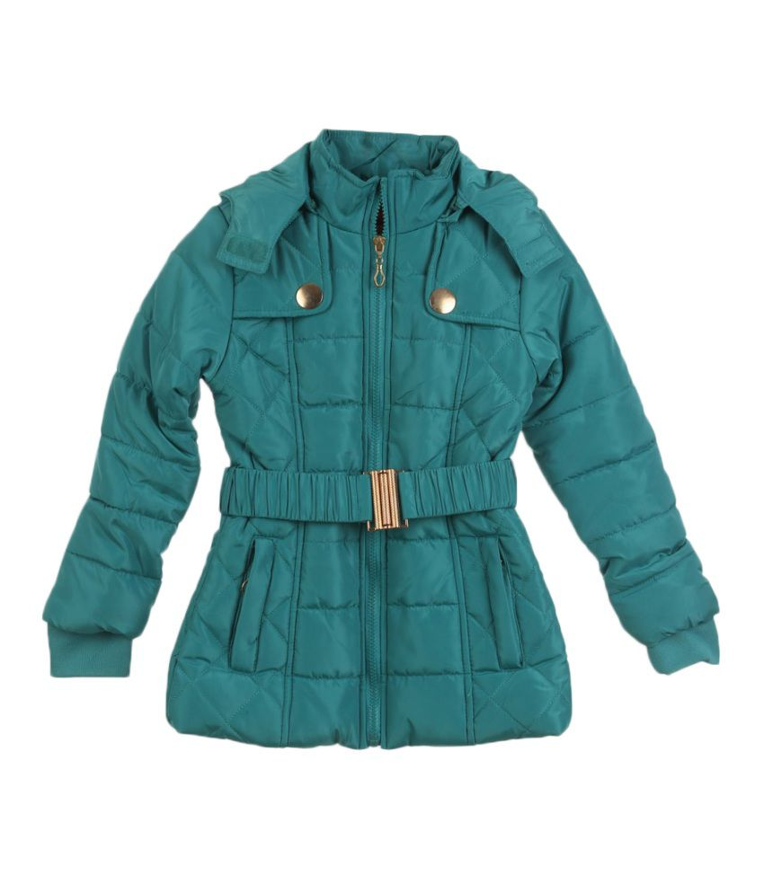 Lilliput Turquoise Viscose Quilted Jacket