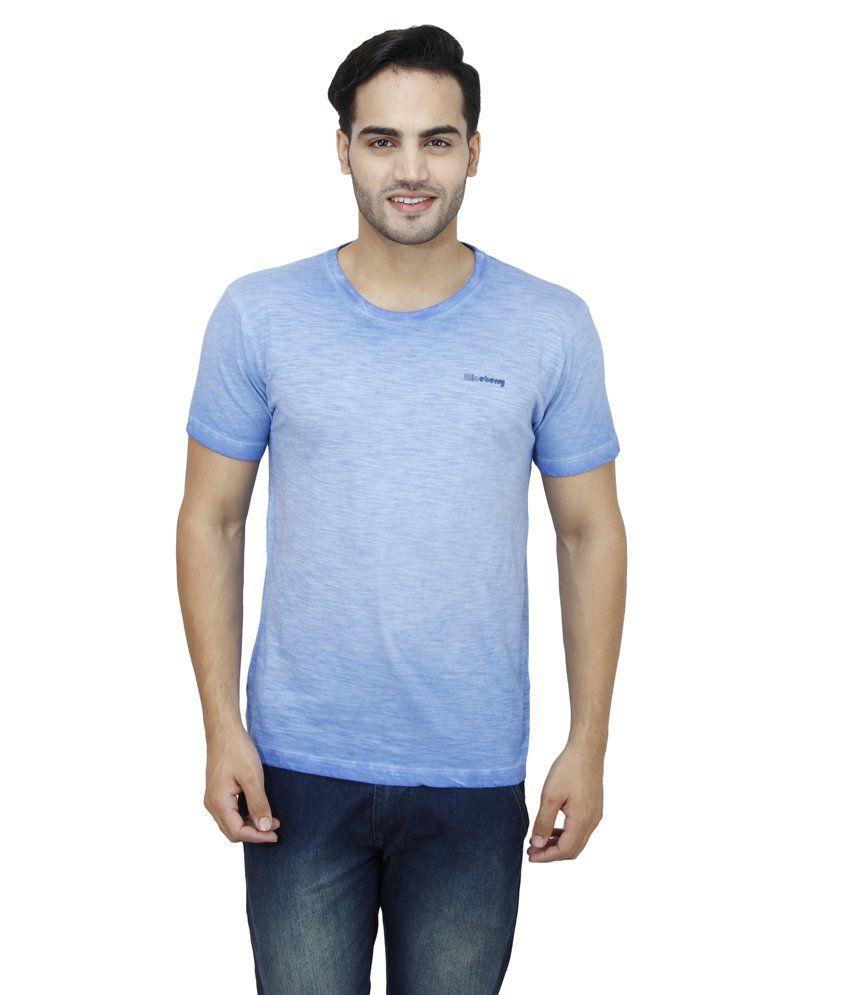 Wineberry Blue Cotton T-Shirt