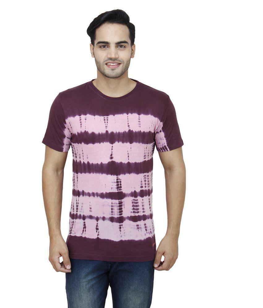 Wineberry Maroon Cotton T-Shirt