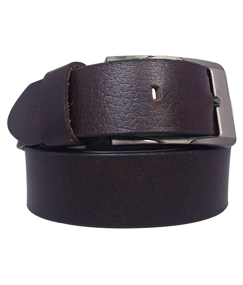 Ekora Brown Leather Formal Belt For Men