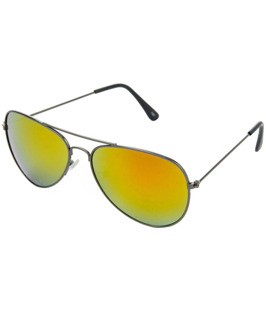 Hrinkar Yellow Medium Unisex Pilot Sunglasses