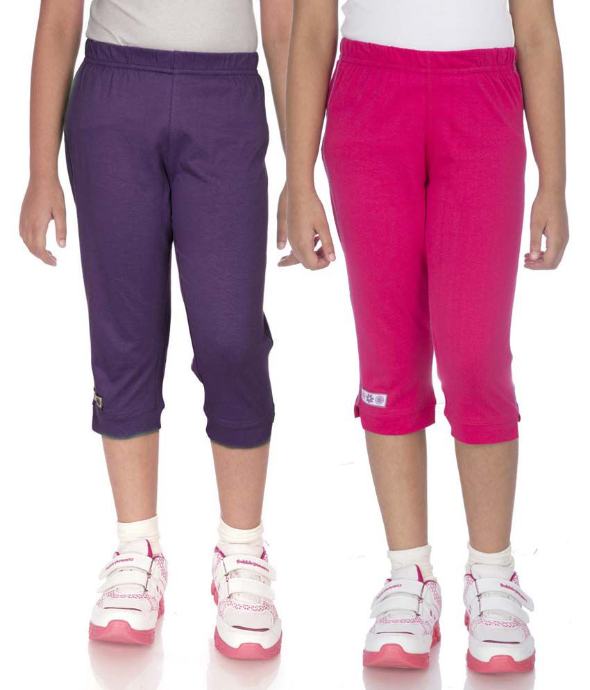 Ocean Race Multicolor Cotton Capris Pack Of 2