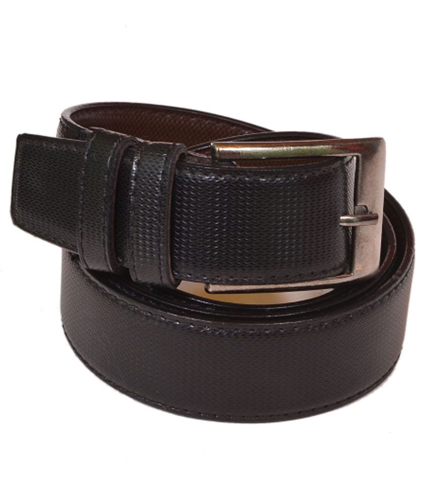 Daller Black Casual Single Belt For Men