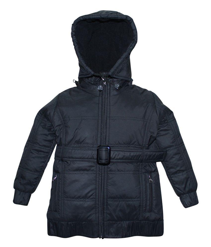 FS MiniKlub Black Nylon Hooded Zippered Jacket
