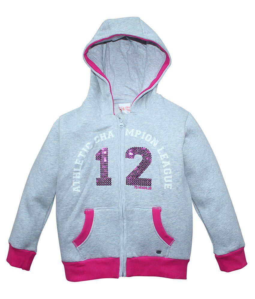 FS MiniKlub Gray Hooded Zippered Sweatshirt