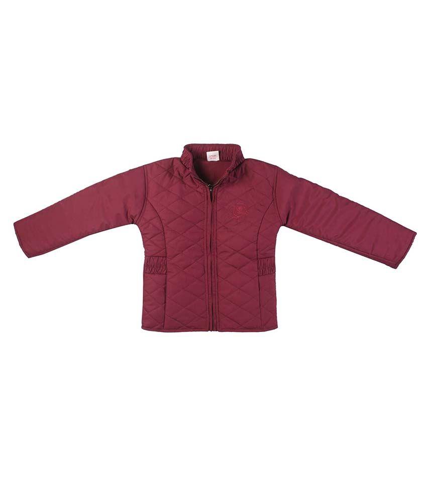 FS MiniKlub Mauve Nylon High Neck Jacket
