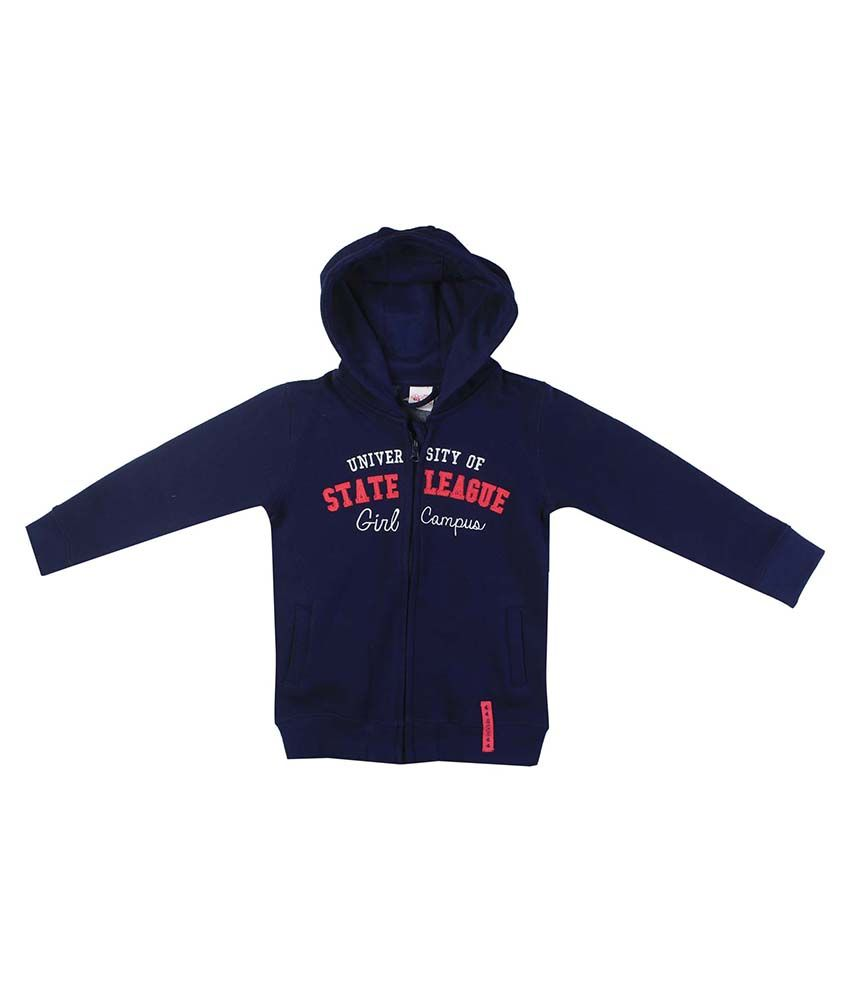 FS MiniKlub Navy Hooded Zippered Sweatshirt