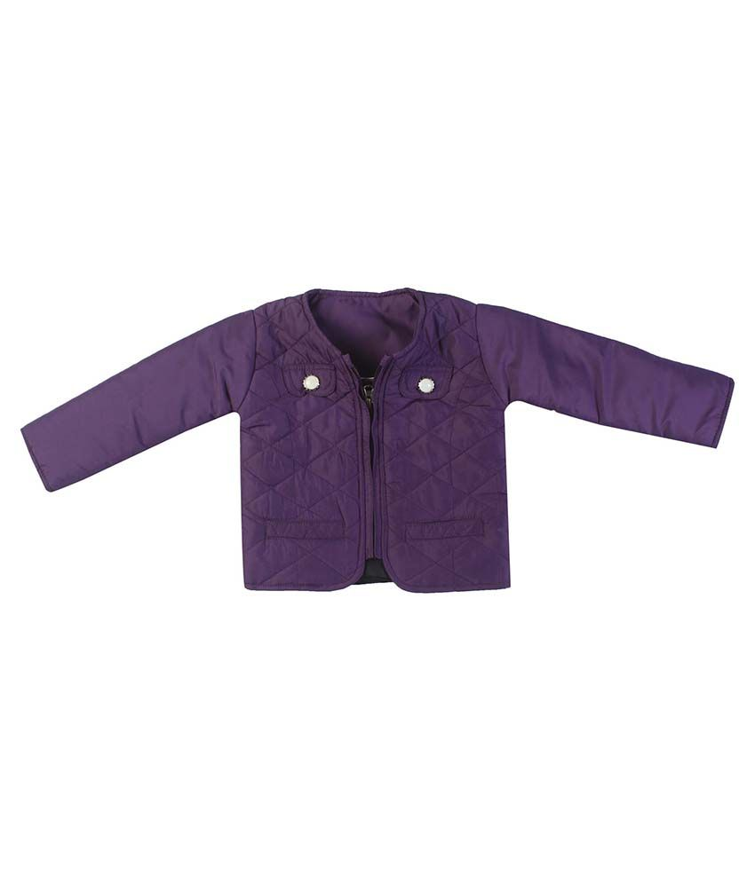 FS MiniKlub Purple Nylon Quilted Jacket
