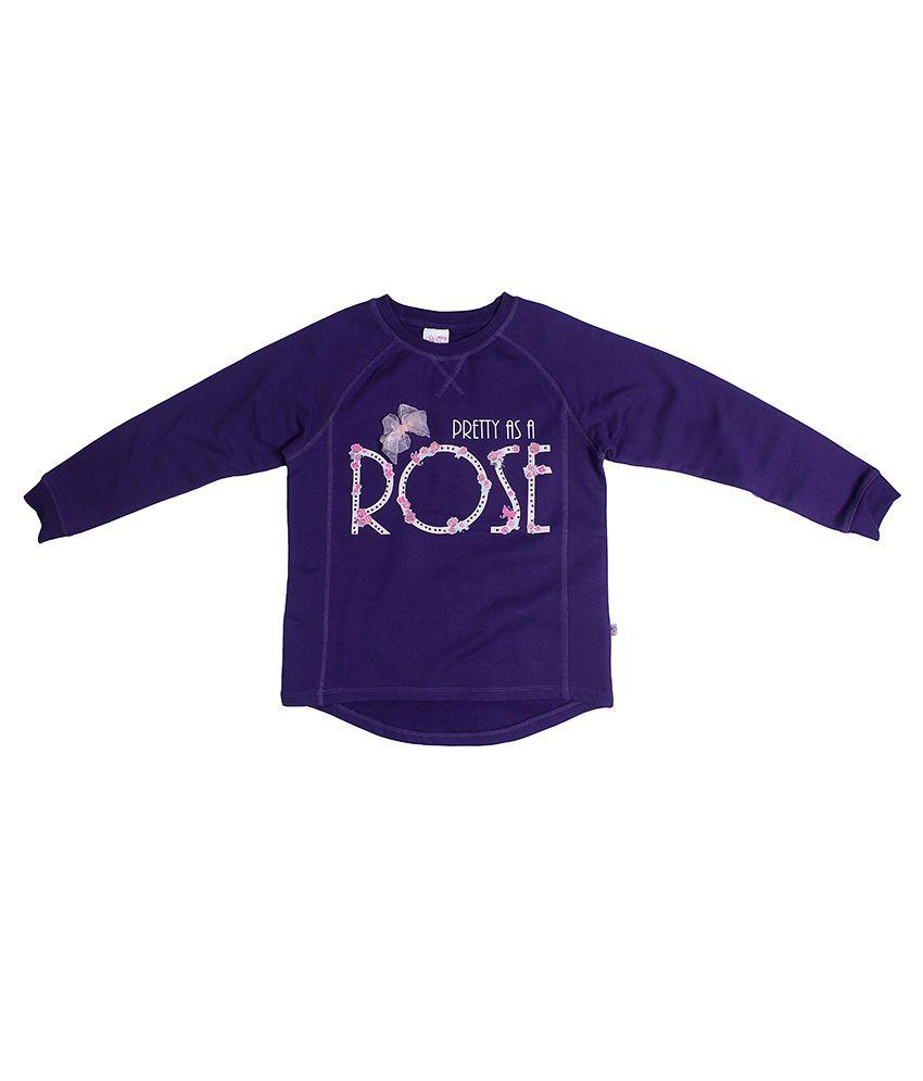 FS MiniKlub Purple Printed Sweatshirt